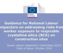 Guidance for National Labour Inspectors on addressing risks from worker exposure to respirable crystalline silica (RCS) on construction sites